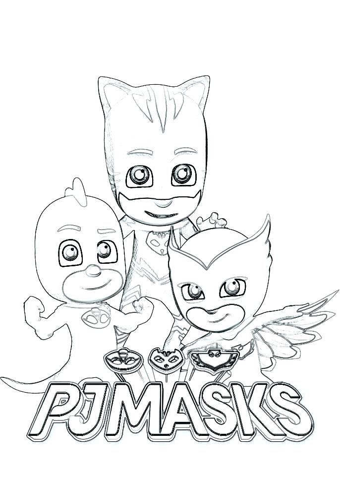 image regarding Printable Pj Masks Coloring Pages known as Printable Pj Masks Coloring Web pages at  No cost