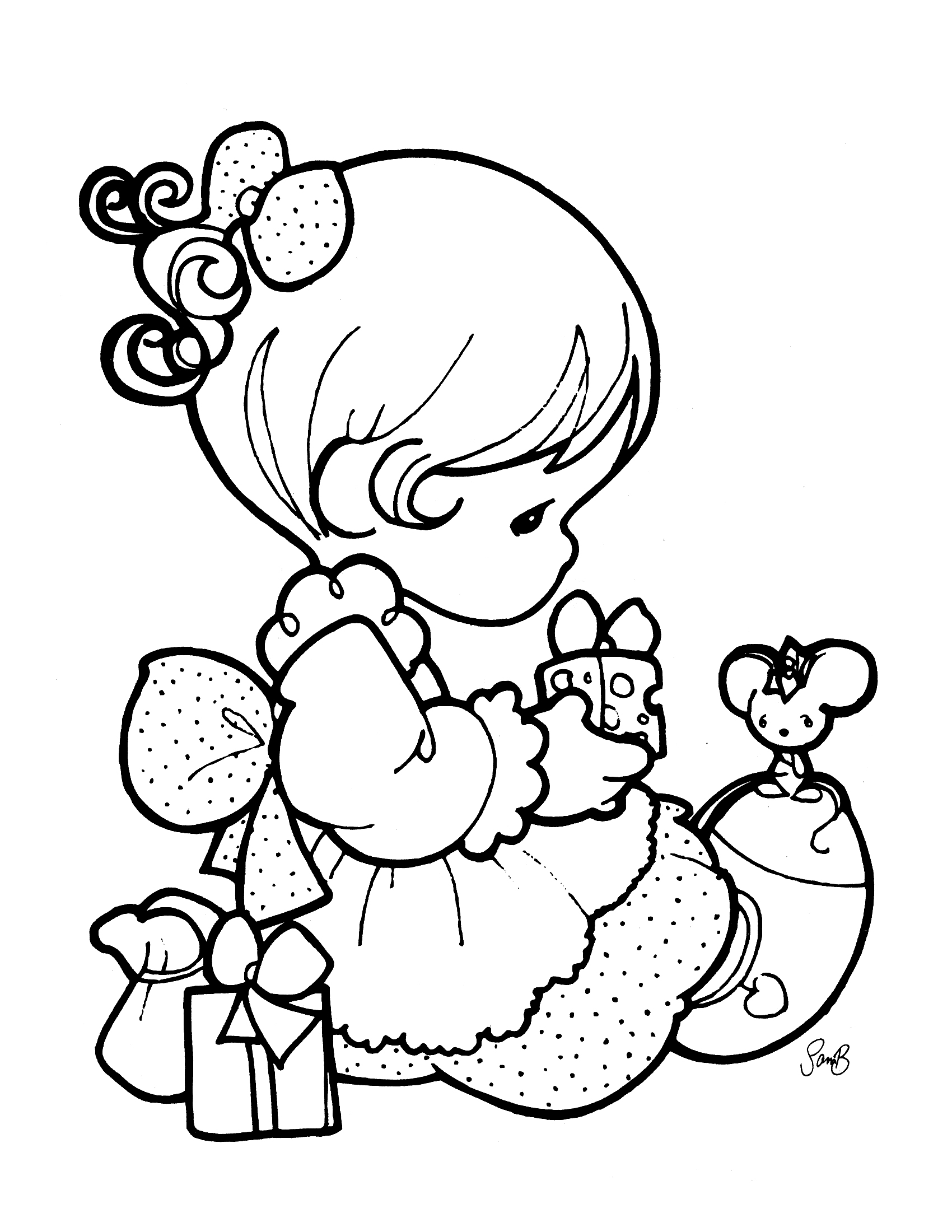 1700x2200 Perfect Free Precious Moments Coloring Pages For Kids Printable