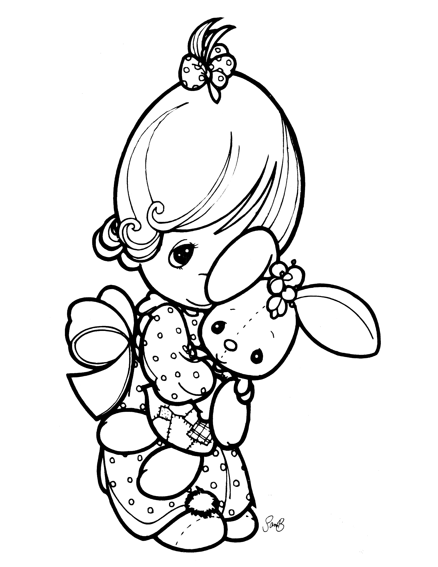 1700x2200 Best Printable Precious Moments Coloring Pages Free Free
