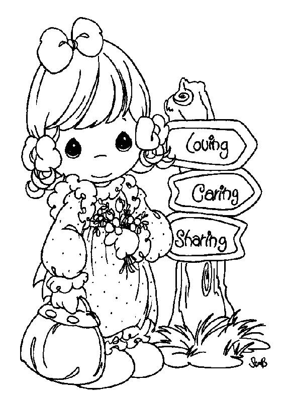 571x792 Coloring Pages Precious Moments Picture Regarding Printable