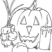 220x220 Jack O Lantern Pumpkins Coloring Pages