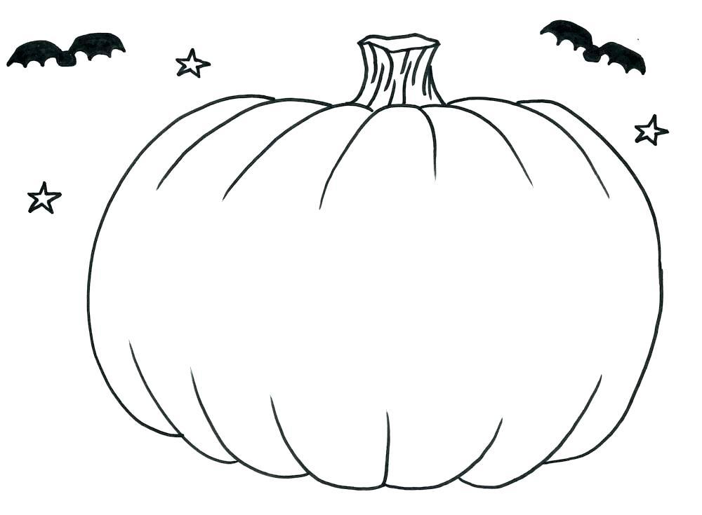 1000x735 Pumpkin Coloring Pattern Blank Pumpkin Printable Coloring Page