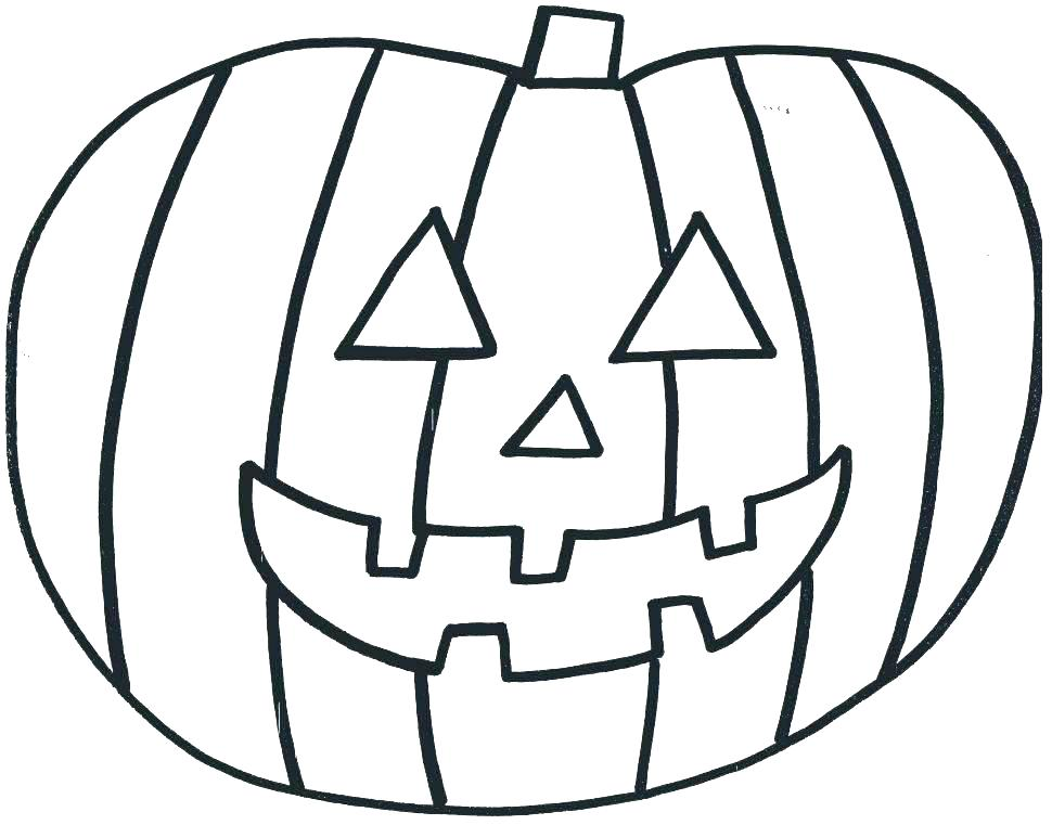 970x761 Printable Pumpkin Coloring Page