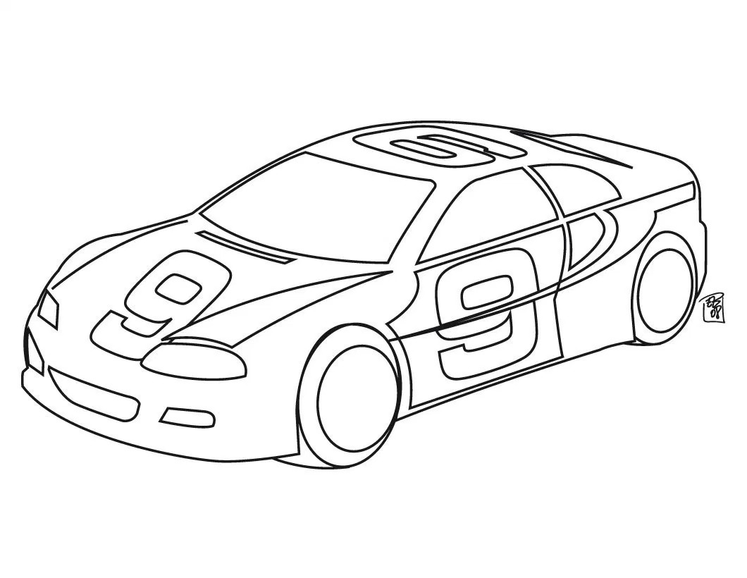 1060x820 Printable Race Car Coloring Pages Funycoloring In Online Cars Dak