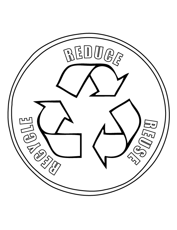 Printable Recycling Coloring Pages