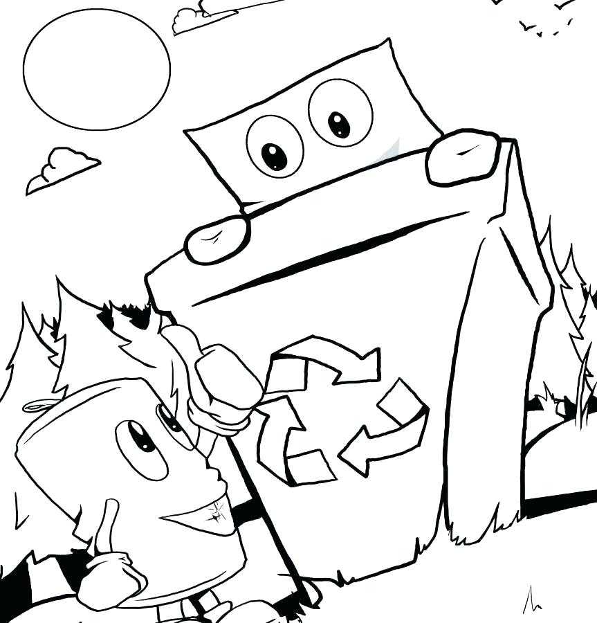 863x900 Recycling Coloring Page Recycling Coloring Pages Coloring Pages