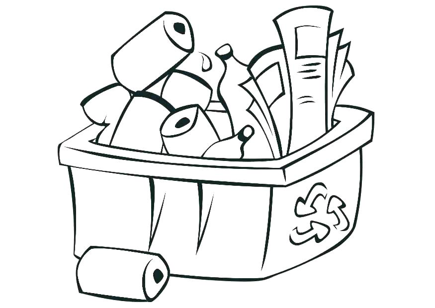 875x620 Free Printable Pictures Recycling Coloring Pages Printable
