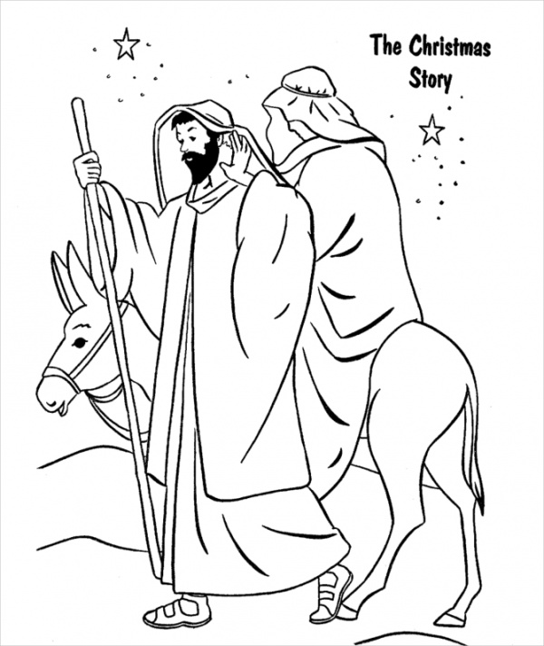 Printable Religious Christmas Coloring Pages