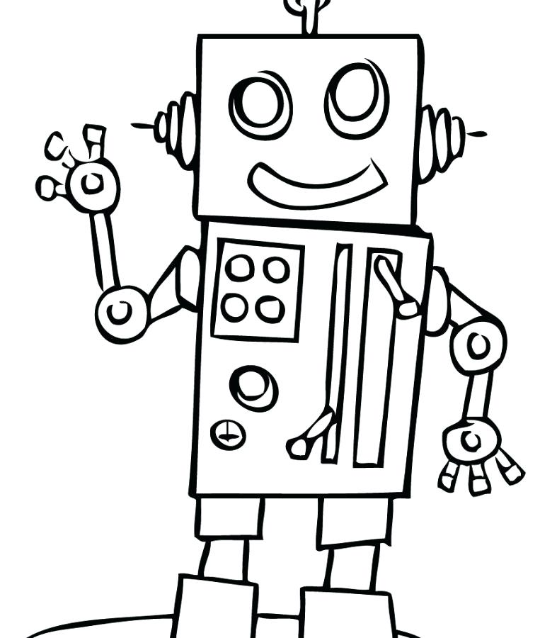 763x900 Robot Coloring Page Kids Toy Robot Coloring Pages Kid Robot