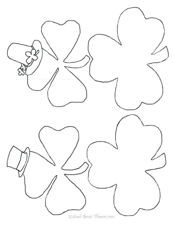 Printable Shamrock Coloring Pages At Getdrawings Com Free For