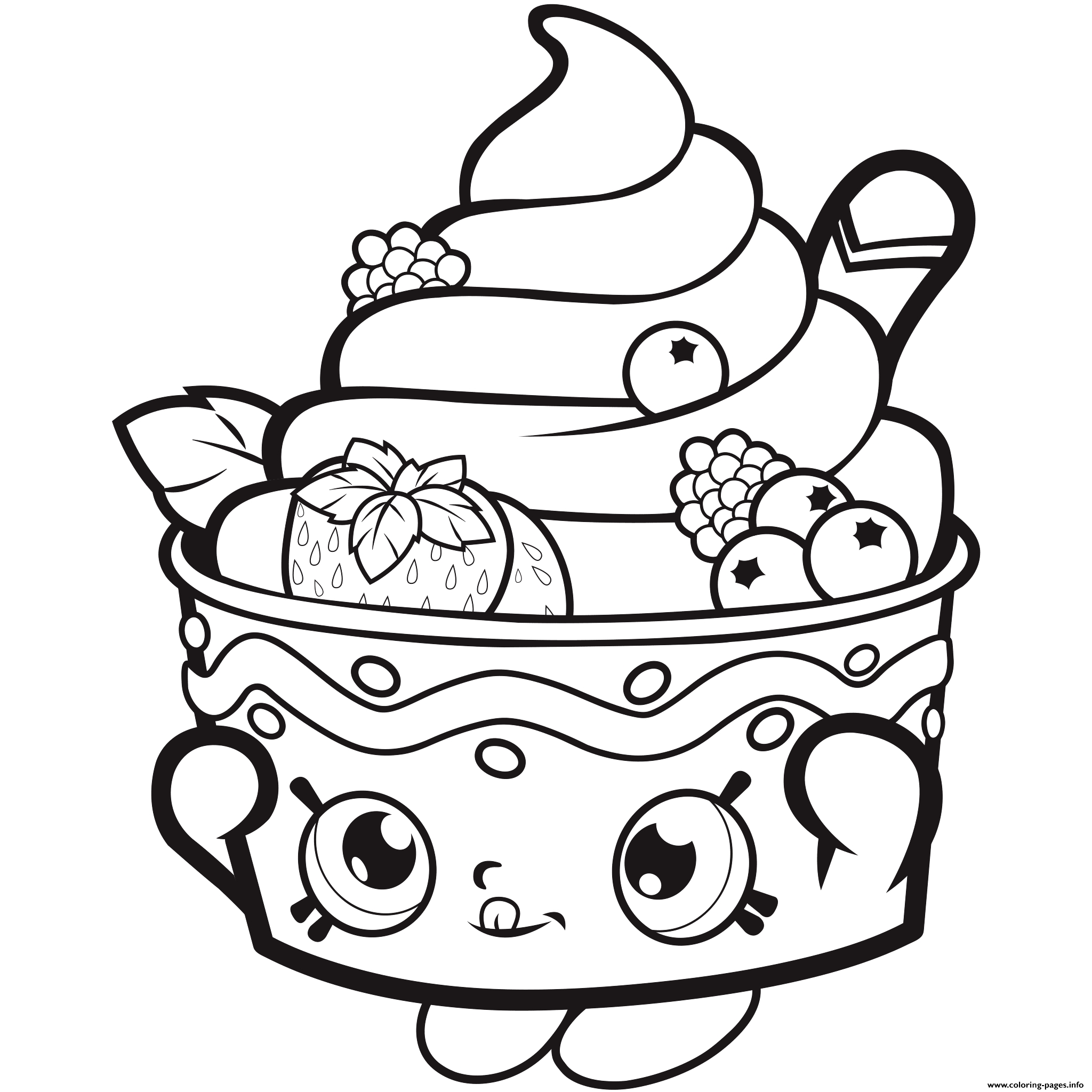 Printable Shopkins Coloring Pages Free At Getdrawings Free Download