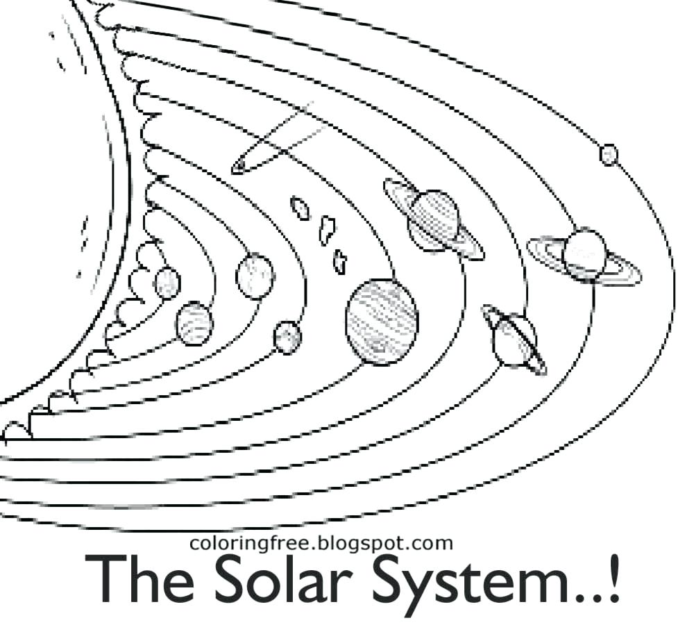 1000x900 Coloring Page Solar System Coloring Page Black And White Picture