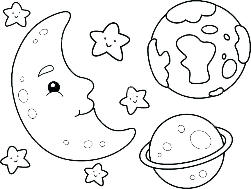 863x653 Space Coloring Page An Astronaut Floating In The Zero Gravity
