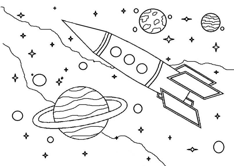 807x571 Space Themed Printables For Kds Space Coloring Pages, Space