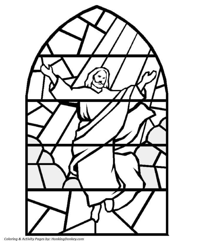 Printable Stained Glass Coloring Pages At Getdrawings Com Free For