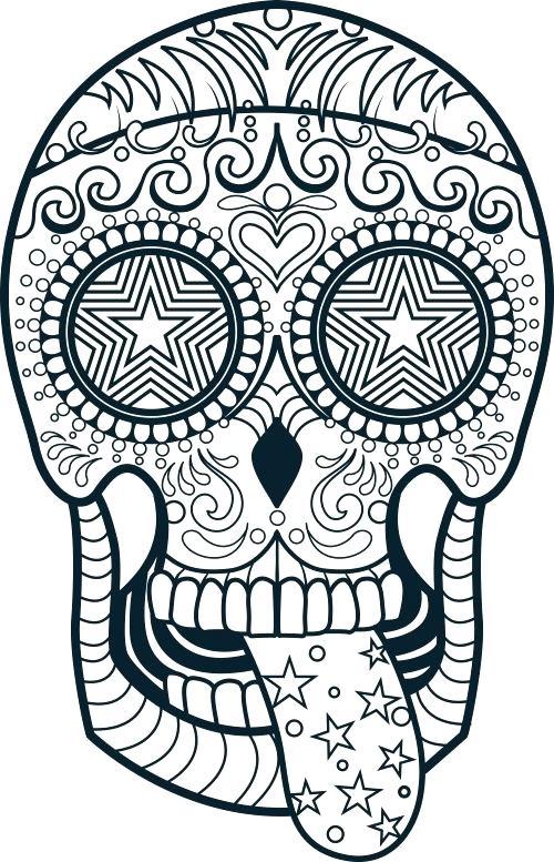 500x777 Sugar Skull Color Pages Free Skull Coloring Pages Sugar Skull