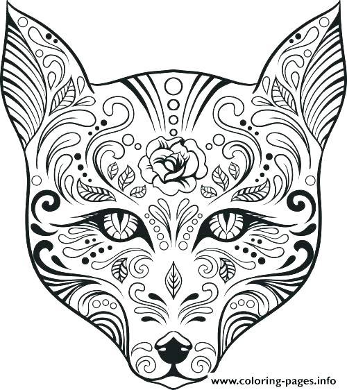 Printable Sugar Skull Coloring Pages at GetDrawings.com   Free for ...
