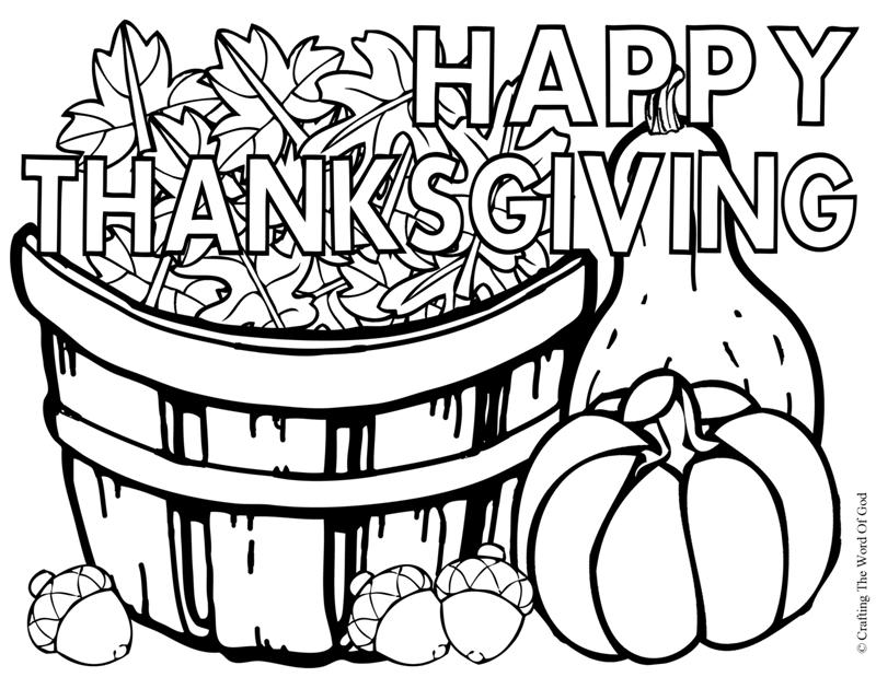 800x619 Happy Thanksgiving Coloring Page Crafting The Word Of God