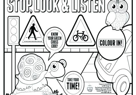 476x333 Stop Light Coloring Page Road Sign Coloring Pages Street Coloring