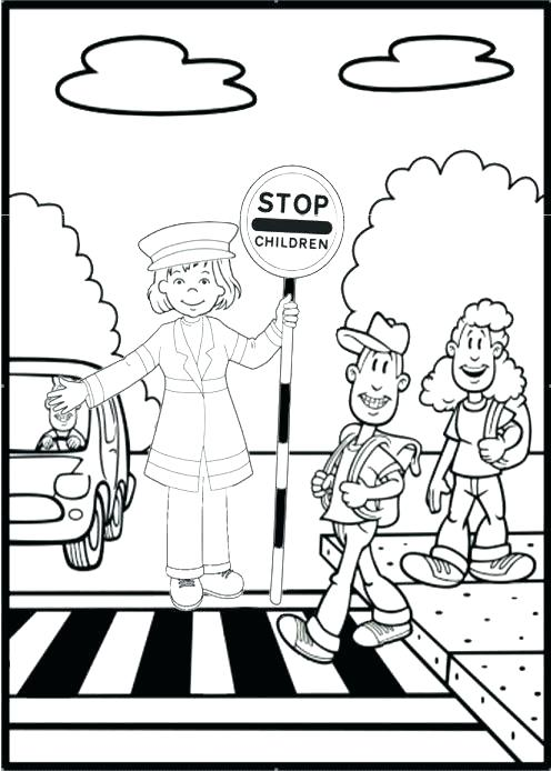496x694 Stop Light Coloring Page Stop Light Coloring Page Road Safety