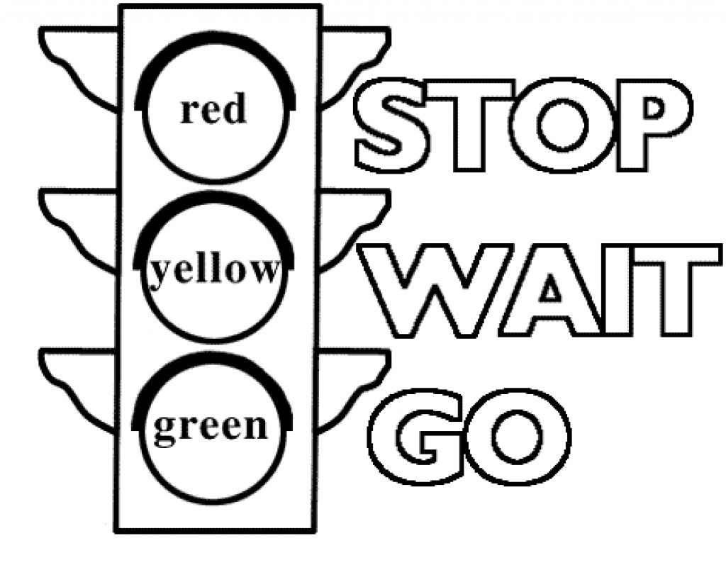 1024x797 Stop Sign Color Pages Traffic Light Signs Coloring Printable