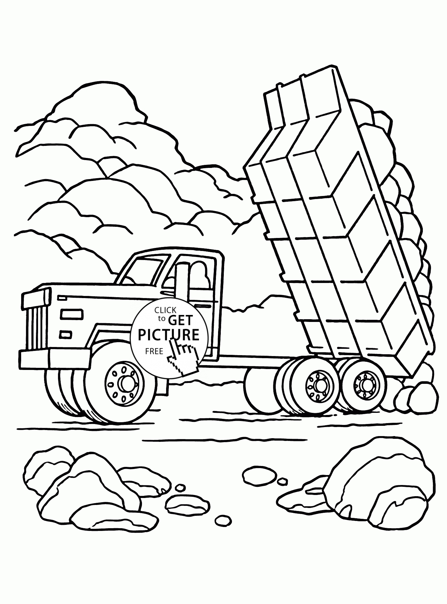 Printable Transportation Coloring Pages