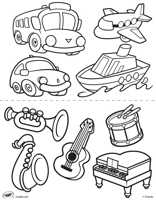 589x762 Transportation Coloring Page Transportation Coloring Page New