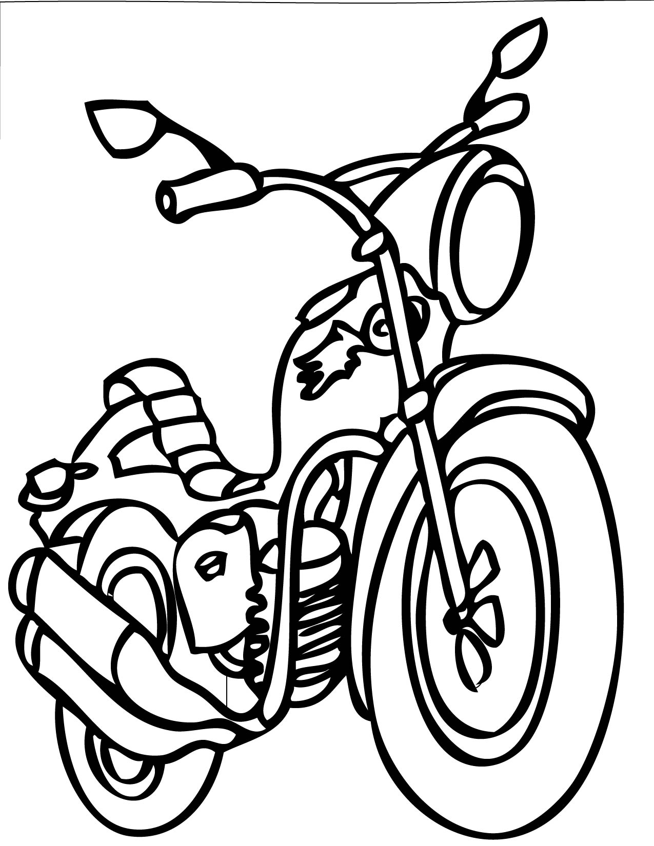 1275x1650 Transportation Coloring Pages