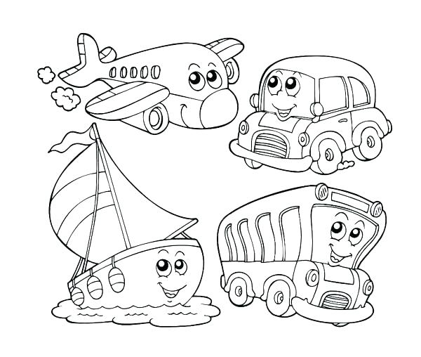 600x508 Transportation Coloring Pages Transport Coloring Pages