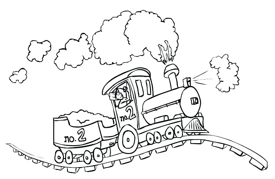 878x572 Free Coloring Pages Trains Coloring Page Of Train Transportation
