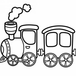 268x268 Free Printable Coloring Page Train Coloring Page Transport Land