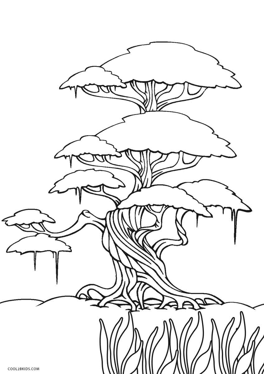 Printable Tree Coloring Page At Getdrawings Com Free For Personal