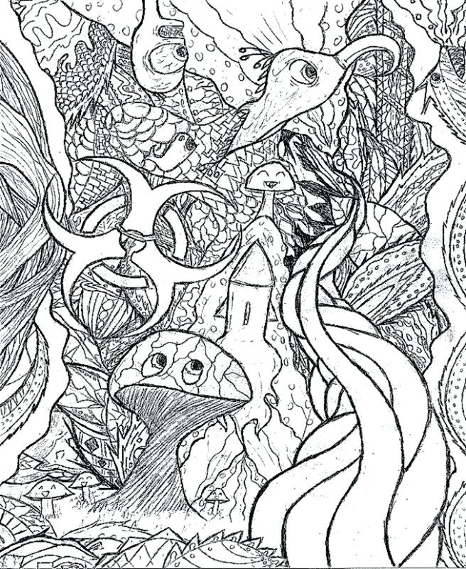 The best free Trippy coloring page images. Download from 461 ...