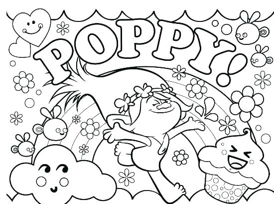 550x409 Trolls Coloring Pages Poppy Free Printable Or Trolls Coloring