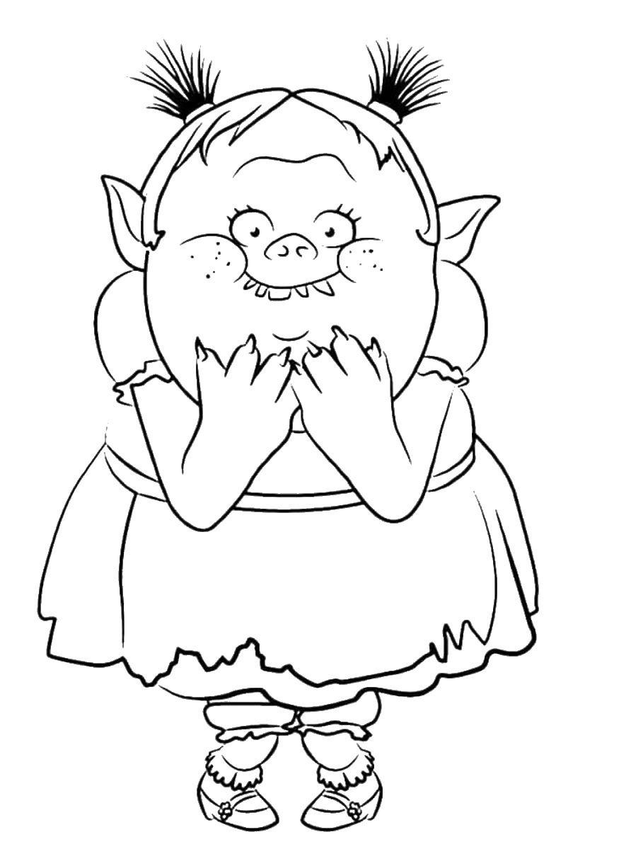 892x1200 Trolls Holiday Movie Coloring Pages