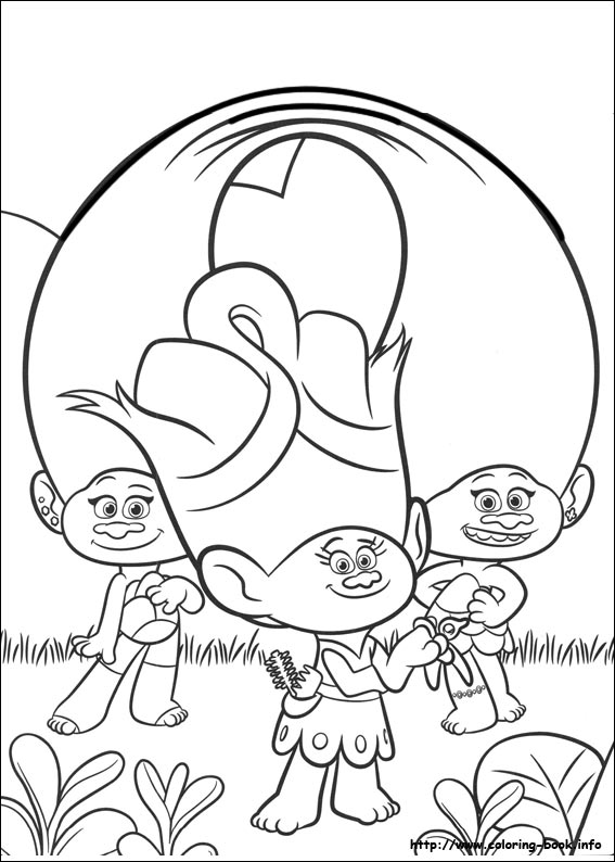 567x794 Trolls Coloring Pages On Coloring