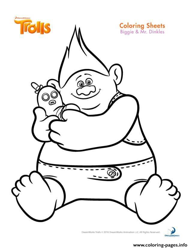640x828 Biggie And Mr Dinkles Trolls Coloring Pages Printable