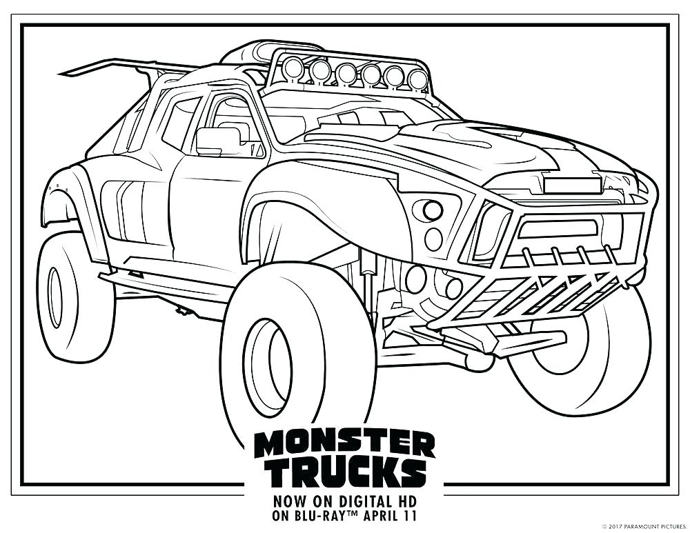 1000x773 Monster Truck Coloring Pages Plus Easy Monster Truck Coloring