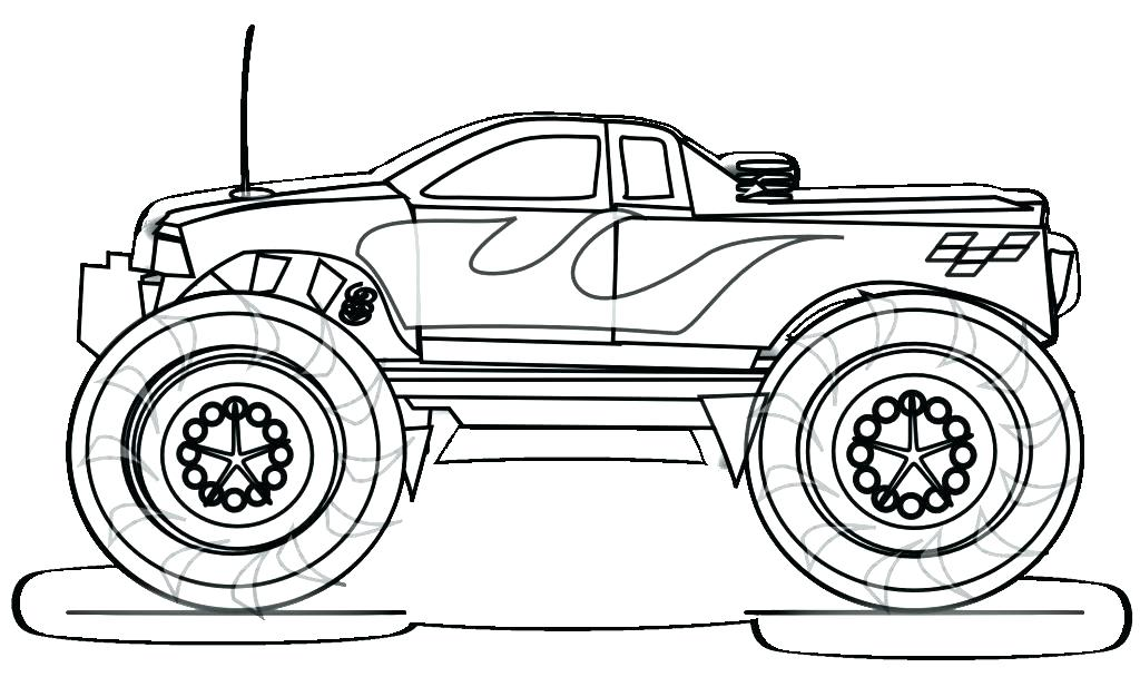 1024x608 Tow Truck Coloring Pages Trucks Coloring Monster Truck Coloring