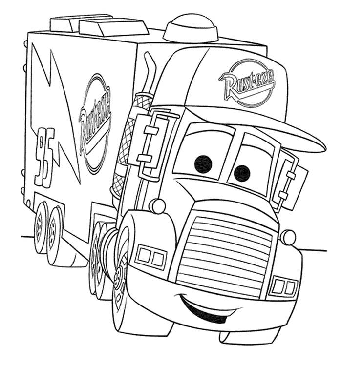 700x750 Truck Coloring Pages Free Printable