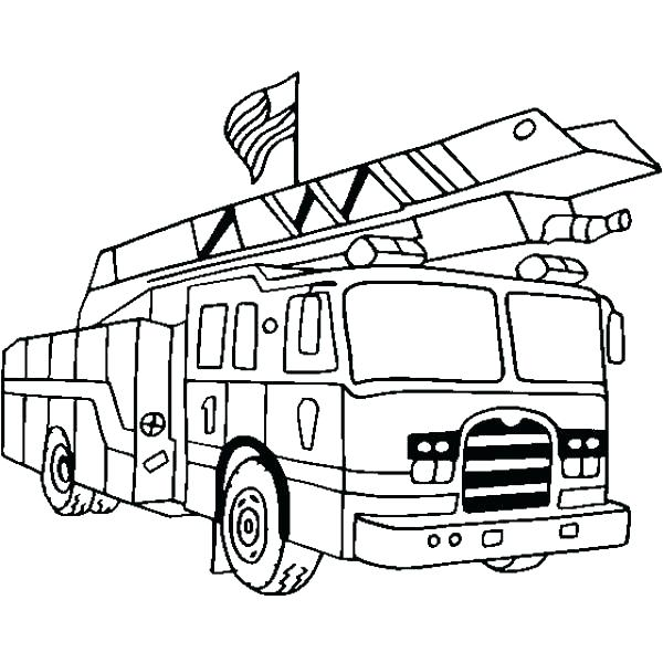 600x600 Fire Engine Colouring Pages Printable Truck Coloring Sheets Free