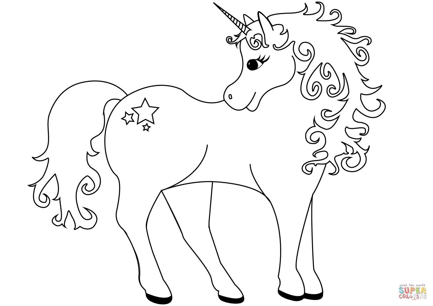 Printable Unicorn Coloring Pages at GetDrawings | Free ...