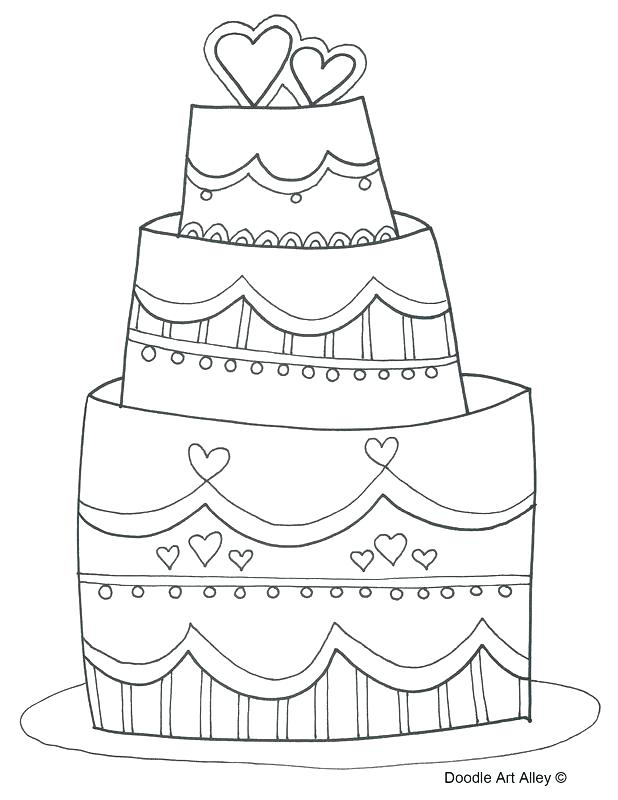 618x800 Coloring Page Cake Printable Wedding Coloring Pages Wedding