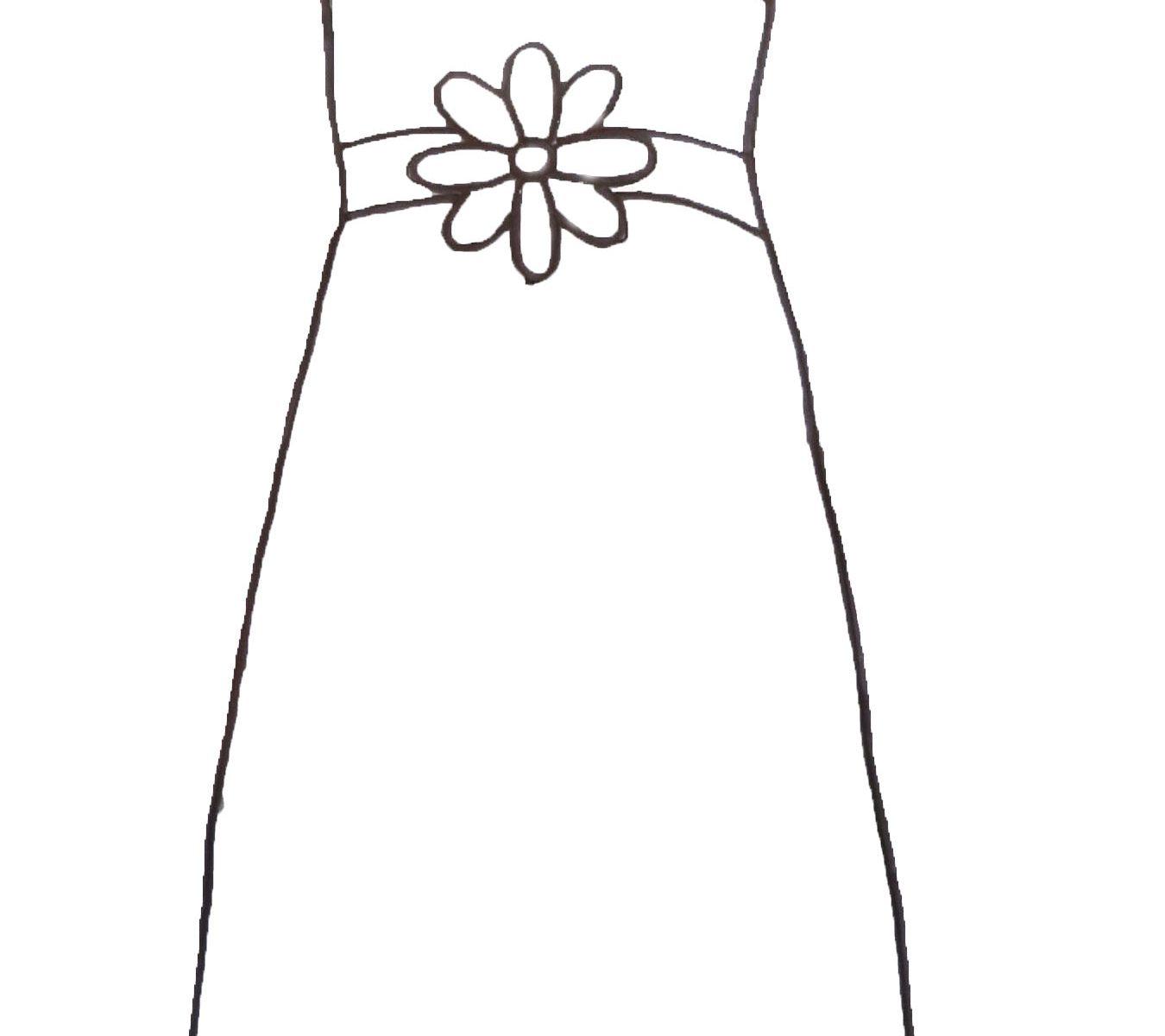 Wedding Dresses Colouring Pages | Saddha
