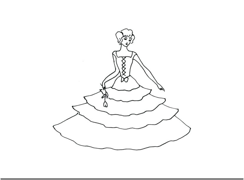 827x609 Wedding Dress Coloring Pages Winter Wedding Dress Coloring Page