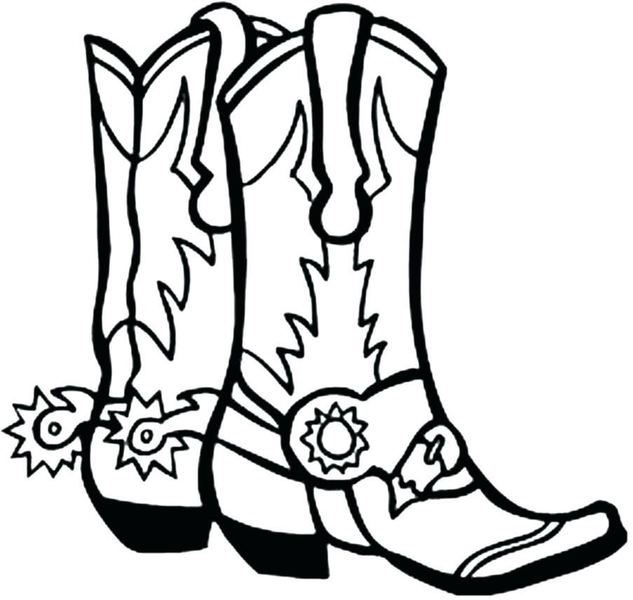903x857 Cowboy Boots Coloring Pages Cowboy Boots Coloring Pages Cowboy