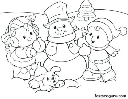 438x338 Preschool Coloring Pages Snowman Preschool Coloring Pages Winter