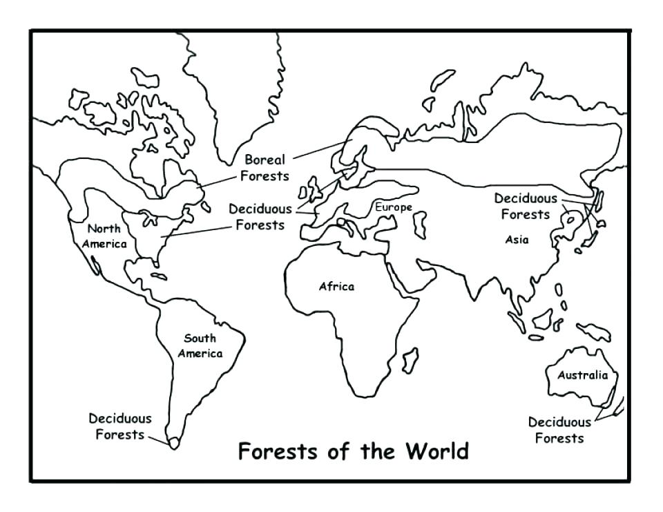 Printable World Map Coloring Page