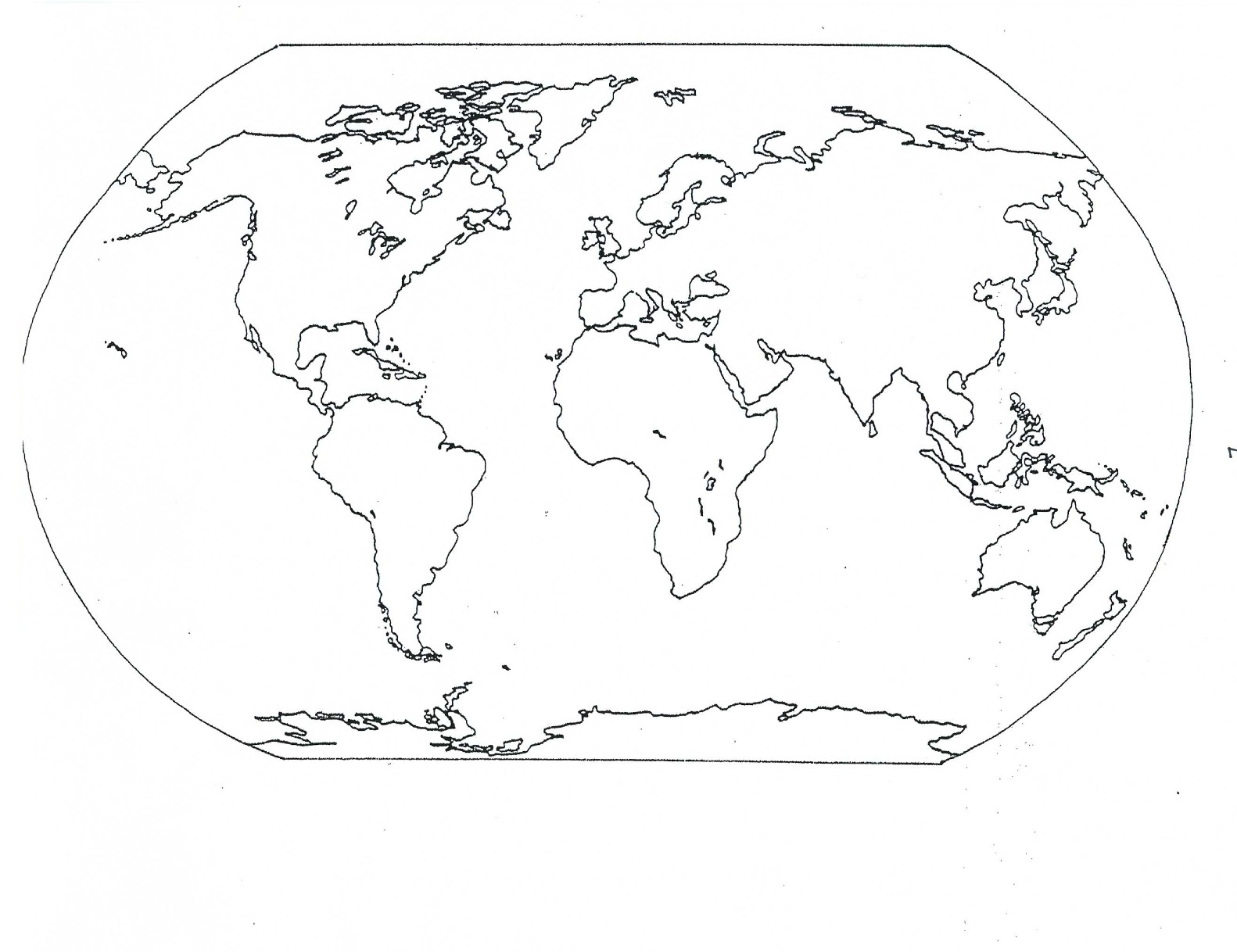 Printable World Map Coloring Page at GetDrawings.com | Free ...