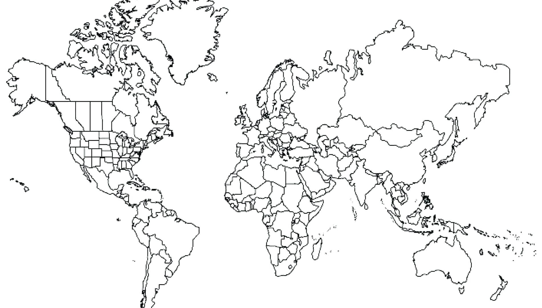 1899x1080 World Map Coloring Page Pdf Save World Map Coloring Page Pdf